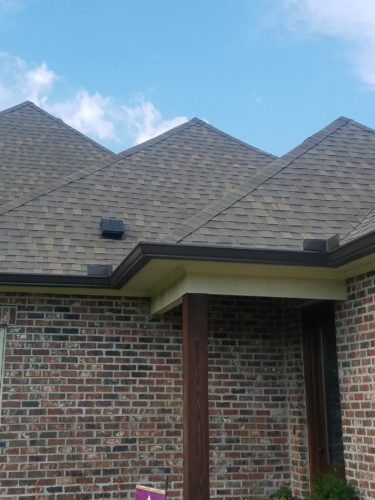 back view of home with gutters installed at Copper Meadows-Copperfield in Youngsville